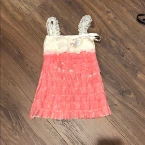 Other - Toddler ivory and coral lace dress